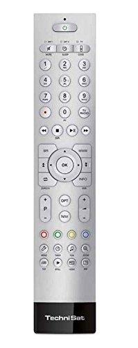 Technisat TechniControl II hochwertige Aluminium-Fernbedienung passend (zu allen Digitalreceivern und TV-Geräten von TechniSat) silber
