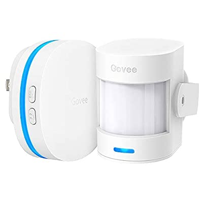 Govee Motion Sensor Alarm, Motion Detector for Home Security Indoor Door Sensor with Alerts, Store Door Detector with 36 Tunes and 5 Adjustable Volumes