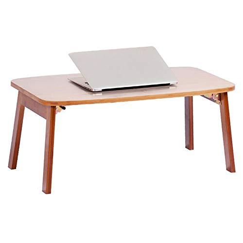 GWM Armoires informatique Table de bureau pour ordinateur portable Plateau de lit petit déjeuner pliable à 100% en bambou Bureau pour ordinateur multifonction, brun foncé (taille : 50x80x34cm)