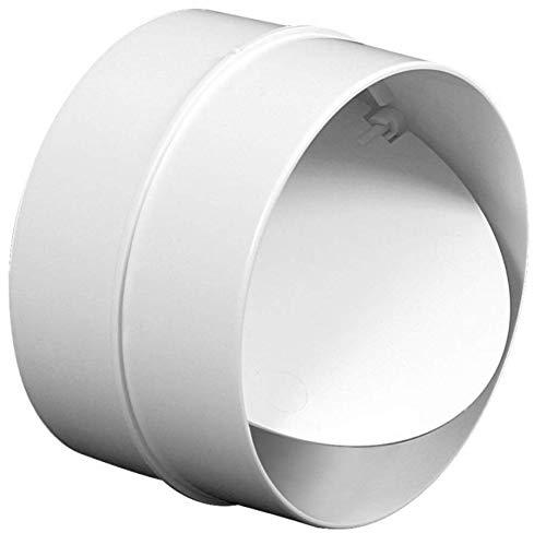 Tubo conector Empalme con válvula antirretorno. Tubo conector para PVC sistemas de ventilación Ø100 mm.