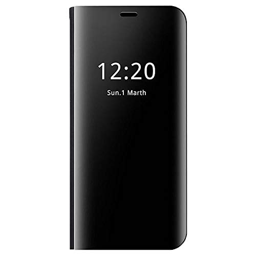 MTP Products Clear View Huawei Mate 20 Lite Flip Case - Black