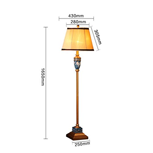 NA Home staande lamp, vloerstaande lezing, creatieve Amerikaanse landelijke vloerlamp studeerlamp in Europese stijl vaas lamp oogbescherming verticale tafellamp, rood
