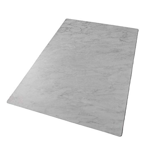 Bessie Bakes Super-Thin & Pliable Subtle Gray Marble Replicated Backdrop for Food & Product Photography 2 ft x 3ft | Moisture Resistant Stain Resistant Lightweight
