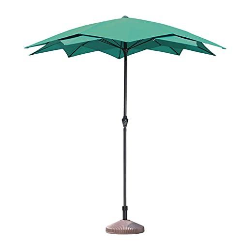 Riyyow Parasol-Regenschirm-kommerzieller Werbe-Regenschirm, Garten im Freien Gartenstahl-Terrassenregenschirm mit Kurbel-Lift-Griff, doppelt Top-Regenschirm-Baldachin für Pool, grün