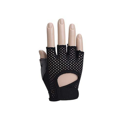 Bruce Dillon Guanti fitness traspiranti per uomo e donna guanti da palestra guanti da allenamento per bodybuilding guanti mezze dita antiscivolo - Nero XL
