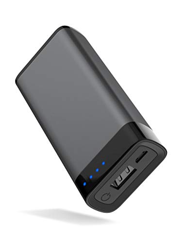 TalkWorks Portable Charger Power Bank USB Battery Pack 4000 mAh - External Cell Phone Backup Supply for Apple iPhone 12, 11, XR, XS, X, 8, 7, 6, SE, iPad, Android for Samsung Galaxy - Space Grey