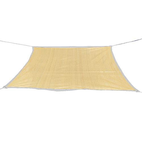 CHUNLAN Shade Netting 75% Shading Rate Anti-UV Green Plant Shade Sun Mesh Balcony Patio Garden Khaki Strengthen Corners Insulation Breathable(Size:3x5m)