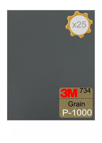 Feuille abrasive 3M 734 à l'eau 230x280 Grain 1000 x 25