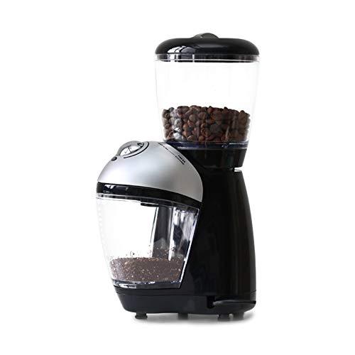 ODSHY Elektrische Kaffeebohnen Grinder Flachmesser Edelstahl Schleifscheibe Haushaltsklein Italienisch Grinder Pulverizer (Plug Type : UK, Voltage (V) : 220V 240V)
