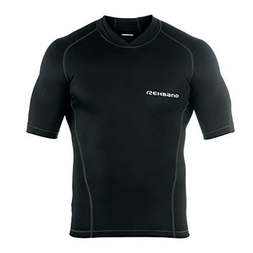 Rehband Herren QD Compression Top Shirt, schwarz, M