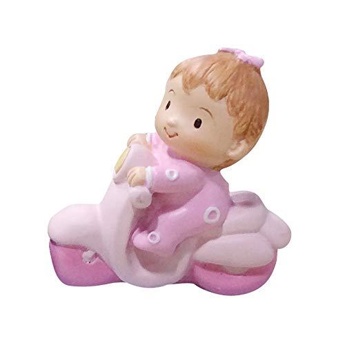Au plaisir des Ojos - Figura de bautizo para niña en moto