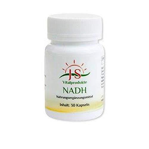 NADH VITALPRODUKT • 20 mg reines NADH • hochdosiert • 30 Kapseln • OHNE Magnesiumstearat • Deutsche Premium Qualität • bluantox