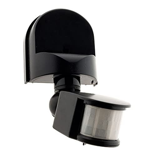Detector de movimiento negro - IP44