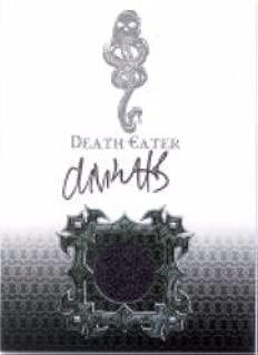 Harry Potter Memorable Moments Death Eater Autograph Costume Card DE5