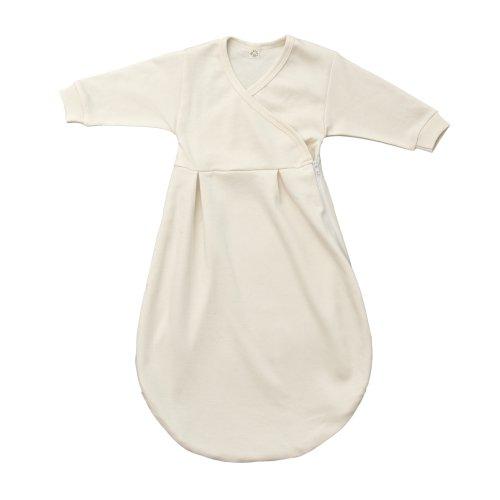 Popolini Felinchen Schlafsack Gr. 50/56 aus kbA-Baumwolle natur ideal als Innenschlafsack für Winterschlafsäcke oder leichter Sommerschlafsack