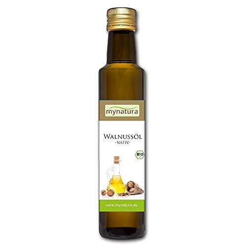 Mynatura Bio Walnussöl 250ml I Walnuss I Kaltgepresst I Naturprodukt I Essentielle Fettsäuren I Vegan I Speiseöl I Hautpflegeöl I DE-ÖKO-044 I Natur 250ml (1 x 250ml)