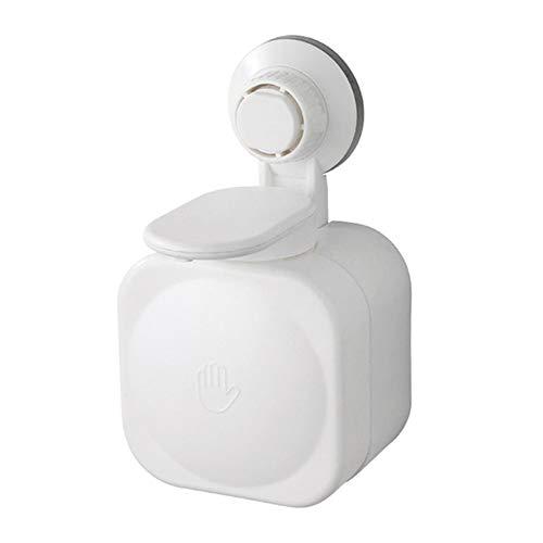 yeehao Saugnapf Seifenspender Wandmontierte ABS Wasserdichte Seifendose für Home Badezimmer Weiß