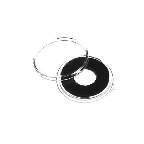 (10) Air-tite 12mm Black Ring Coin Capsules for 2 Mexican Peso Gold Coins by OnFireGuy