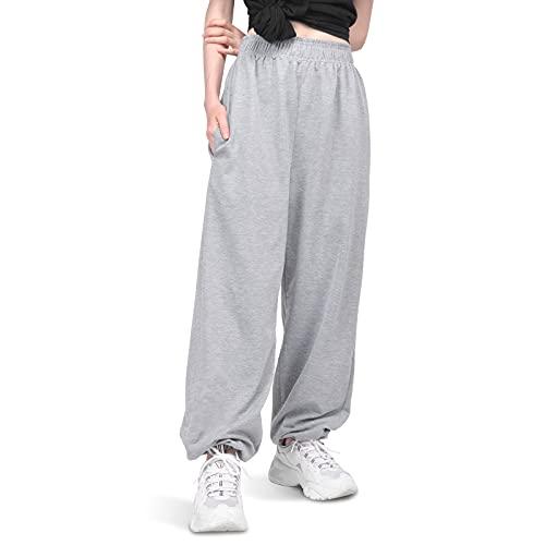 FORMIZON Pantalones Chandal Mujer Largos Pantalones de Deporte con Bolsillos Algodón Pantalones Deportivos para Yoga Fitness Jogger Correr Running