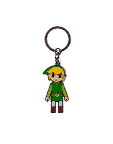 The Legend of Zelda Keychains Zelda - Link with Movable Head Metal Keychain Multicolor