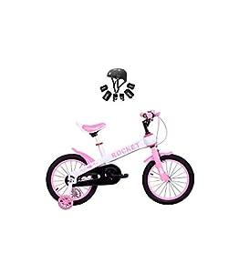 Riscko Modelo Rocket - Bicicleta para Niño y Niña, con Ruedas de 16'' Color Rosa