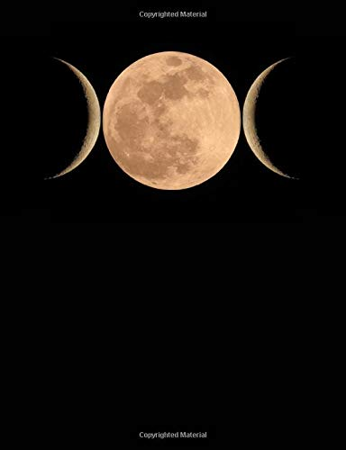 Triple Goddess Moon: Blank Lined Journal