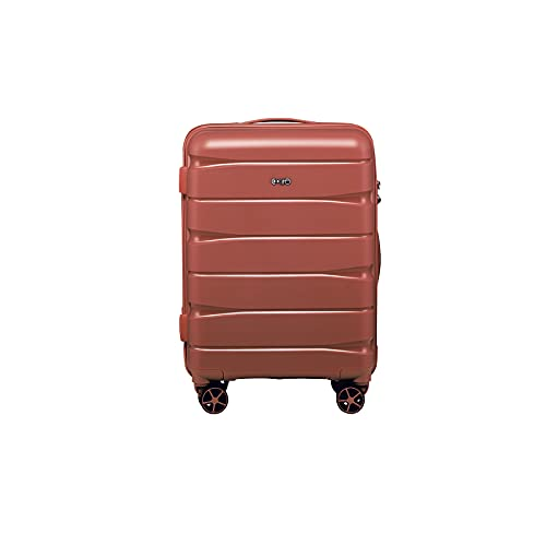 """COOLIFE luggage Expandable(only 28"""") suitcase 3 piece set PP material with TSA Lock Spinner carry on Hard- side 20in24in28in"""