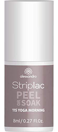 alessandro Striplac Peel or Soak Yoga Morning – LED-Nagellack in Grau-Beige – Für perfekte...