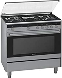 Siemens Freestanding Gas Cooker, Silver, 23.6 x 33.3 x 35.4 inches, HQ738357M, 1 Year Warranty