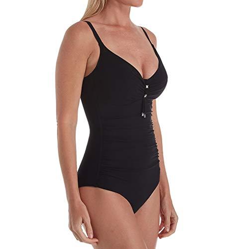 Chantelle Women's Escape One Piece Underwire Swimsuit 18B7 38D Black