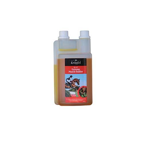 Kröpfel Extreme Muscle Builder für Pferde - 1000ml Weizenkeimöl, Reiskeimöl, Leinöl Premium Supplement Futterergänzungsmittel - nachhaltiger Muskelaufbau Pferde - von Tierärzten entwickelt