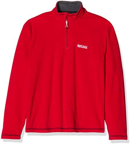 Regatta Herren Thompson Half-Zip Fleece-Jacke, Rot (Classic Red), XXX-Large