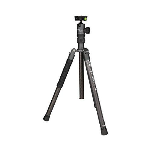 Rollei City Traveler XL - Super leichtes Reise Stativ aus Carbon - Perfekt für DSLM und DSLR Kameras - Arca SWISS kompatibel - Inkl. Kugelkopf und Stativtasche - Titan