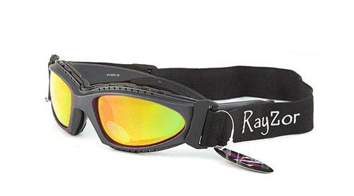 Occhiali da Sole e Maschera Ray-Zor - Sport - Ciclismo - Sci - Driving - Moto - Alpinismo / Mod. Extrem Giallo Specchio