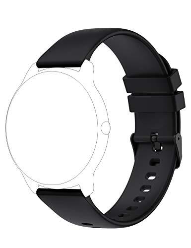 YAMAY Smartwatch Cinturino di Ricambio Accessorio per Smart Watch YM022 SW022 KW66 (Nero Rosa Verde Grigio)