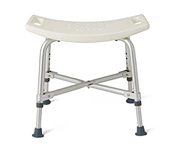 Medline Heavy Duty Shower Chair Bath Bench Without Back Bariatric Bath Chair Supportsup to 550 Lbs