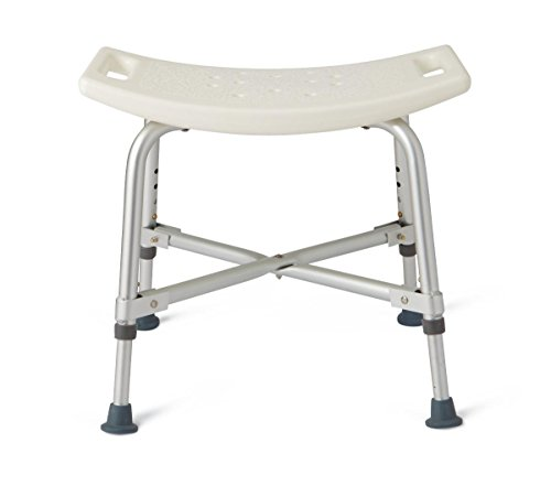 Medline Heavy Duty Shower Chair Bath Bench Without Back, Bariatric Bath Chair Supportsup to 550 Lbs