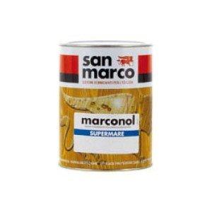 San Marco MARCONOL Supermare Vernice trasparente poliuretanica brillante o satinata per esterni, colore: Satinata, size: 1 lt