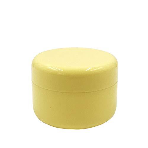 ZHIRUI - Bote de Almacenamiento para cosméticos, 10 Unidades, Botes de plástico vacíos para Maquillaje, Crema Facial, loción y cosméticos, 5 Colores, 10 g, 10 g, Color Amarillo