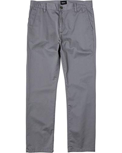 RVCA Men Week-End Stretch Straight Fit Pant Grey 34