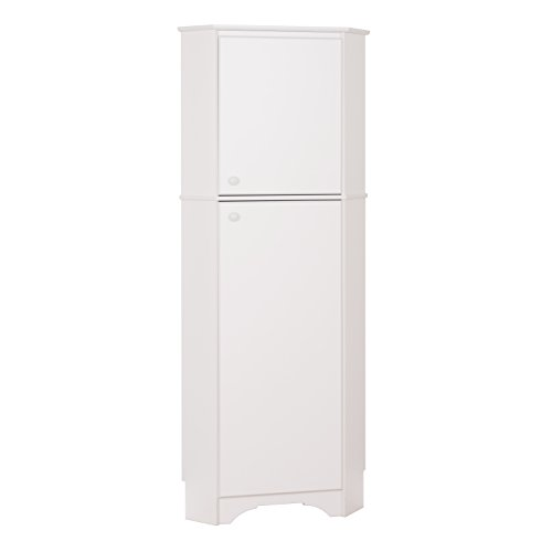Prepac WSCC-0605-1 Elite Home Corner Storage Cabinet Tall 2-Door, White