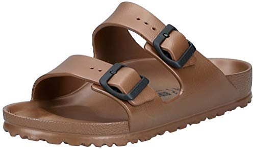 Birkenstock Arizona Eva, Sandali a Punta Aperta Donna, Marrone (Metallic Copper Metallic Copper), 40 EU