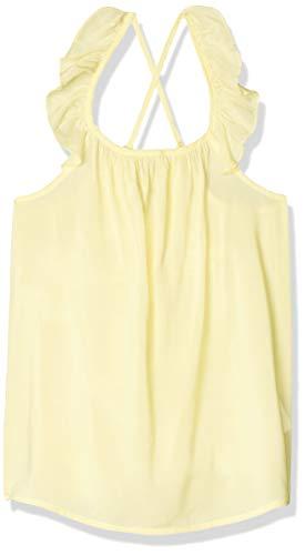 LOB Blusa Niña Tirantes Cruzados con Olan Color Amarillo