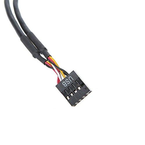 RingBuu PC Case Internal 9-Pin USB 2.0 Male 1 to 4 Female Splitter PCB Chi   pset Extender