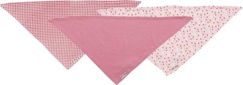 Playshoes Baby - Mädchen Halstuch Dreieckstuch Herzchen, 3Er Pack, Reine Baumwolle, Maße Ca. 60X30 Cm, Oeko-Tex Standard 100, Gr. One Size, Rosa (Original)