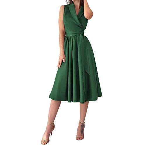 Vectry Vestidos Niña Vestidos Comunion Vestidos Elegantes Niña Vestidos Largos Casual Boho Moda Mujer 2019 Vestidos Verano Vestidos De Coctel Tallas Grandes Falda Verde