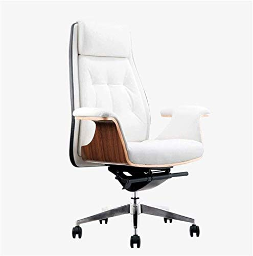 HAOSHUAI Büro SeiganLeather Hohe Rücken Ergonomischer Einstellbarer Rennstuhl Sessel Task Swivel Executive