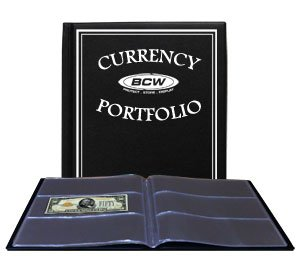BCW – Currency Portfolio – (Dollar Bill Combo Storage Album) – Currency and Coin Collecting Supplies, Black, Pocket Size…