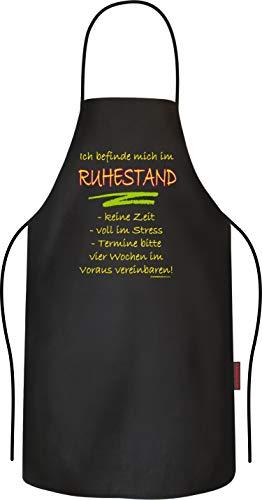 RAHMENLOS Grillschürze Kochschürze Küchenschürze als Geschenk für Rentner im Ruhestand