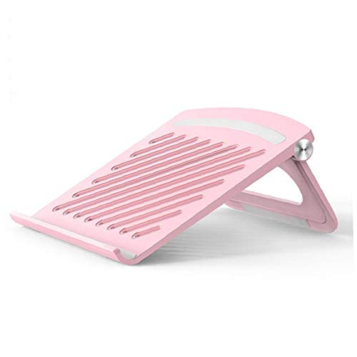 1PC Laptop Stand ABS Silicone Base Nonslip Desktop Heightening Bracket for Computer Home Office (Pink)